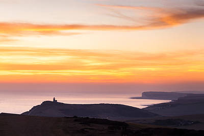 Photograph - Sunset Over Beachy Head by Stuart Gennery