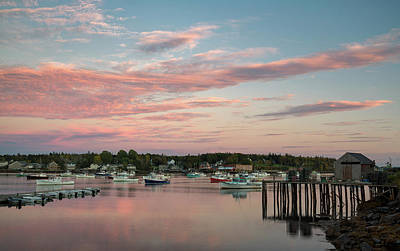 Photograph - Sunset Over Bernard Harbor by Darylann Leonard Photography