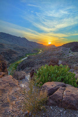 Winter Animals - Sunset over Big Bend and the Rio Grande 2 by Rob Greebon