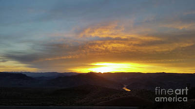 Sunset Over Black Canyon And River #1 Art Print by Heather Kirk