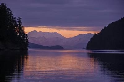 Photograph - Sunset Over Bradley Ice Field Alaska by NaturesPix