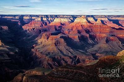 Sunset Over Bright Angel Canyon Original