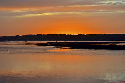 Photograph - Sunset Over Broad Creek by Carol Bradley