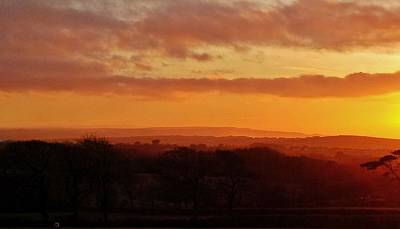 Photograph - Sunset Over Bude In North Cornwall by Richard Brookes