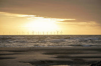 Photograph - Sunset Over Burbo Bank Windfarm by Spikey Mouse Photography
