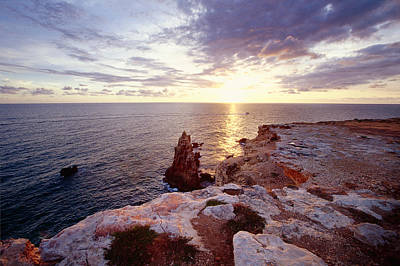 Sunset Over Cabo Rojo Puerto Rico Art Print by George Oze