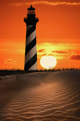 Photograph - Sunset Over Cape Hatteras Lighthouse by Justin Kelefas