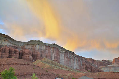 Photograph - Sunset Over Capitol Reef by Ray Mathis