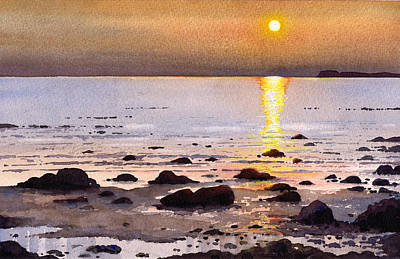 Scotland Painting - Sunset Over Cara by Paul Dene Marlor