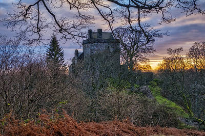 Photograph - Sunset Over Castle Campbell In Clackmannanshire by Jeremy Lavender Photography