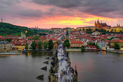 Photograph - Sunset Over Charles Bridge by Fabrizio Troiani