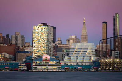 The Iac Building Photograph - Sunset Over Chelsea by Eduard Moldoveanu