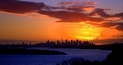 Photograph - Sunset Over City Of Sydney by Miroslava Jurcik