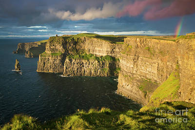 Door Locks And Handles Rights Managed Images - Sunset over Cliffs of Moher Royalty-Free Image by Brian Jannsen