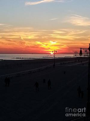 Photograph - Sunset Over Coney Island Beaches by John Telfer