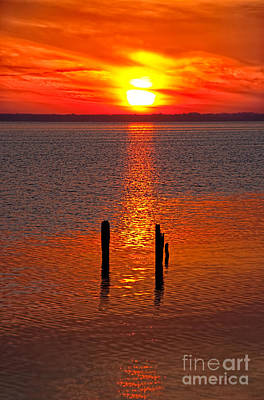 Photograph - Sunset Over Currituck Sound by Dan Carmichael