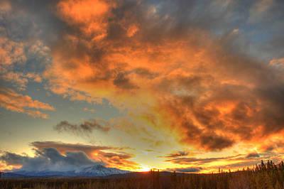 Photograph - Sunset Over Dawson Peaks, Teslin, Yukon by Robert Postma