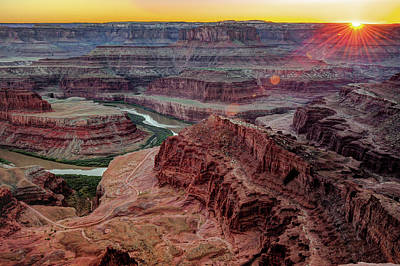 Photograph - Sunset Over Dead Horse Point - Moab Utah by Gregory Ballos