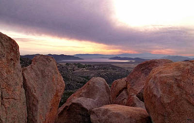 Sunset Over Diamond Valley Lake Art Print by Glenn McCarthy Art and Photography