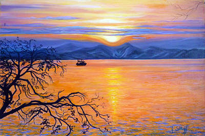 Painting - Sunset Over Eastern Russia by Janet Silkoff