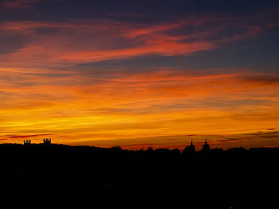 Photograph - Sunset Over Edinburgh by Christi Kraft