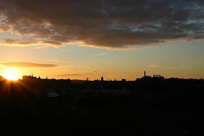 Sunset Over Edinburgh Art Print