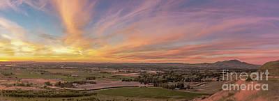 Photograph - Sunset Over Emmett Valley by Robert Bales