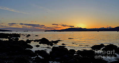 Photograph - Sunset Over English Bay by Terry Elniski