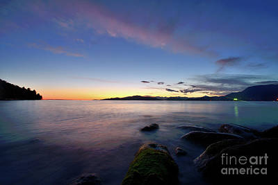 Photograph - Sunset Over English Bay Vancouver Bc by Terry Elniski