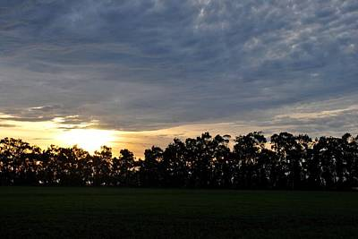 Photograph - Sunset Over Farm And Trees by Matt Harang