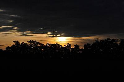 Photograph - Sunset Over Farm And Trees - Silhouette View  by Matt Harang
