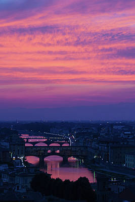 Photograph - Sunset Over Florence by Patricia Schaefer