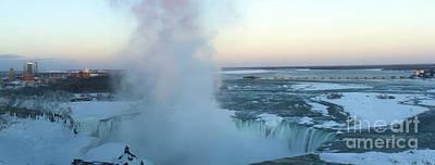 Safari - Sunset over Frozen Niagara Falls by Karen Foley