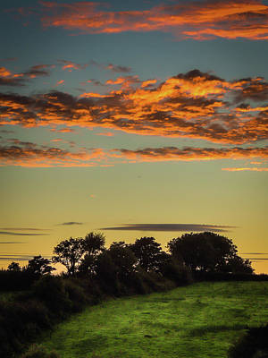 Photograph - Sunset Over Green Pastures by James Truett