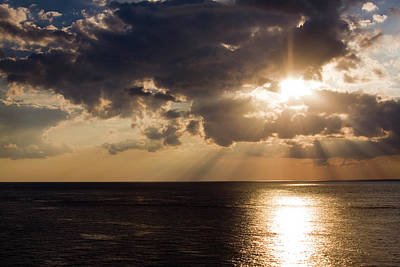 Photograph - Sunset Over Gulf Of Mexico by Gwen Vann-Horn