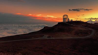 Photograph - Sunset Over Haleakala Observatory by Susan Rissi Tregoning