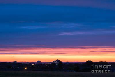 Sunset Over Harlow Art Print by Nigel Bangert