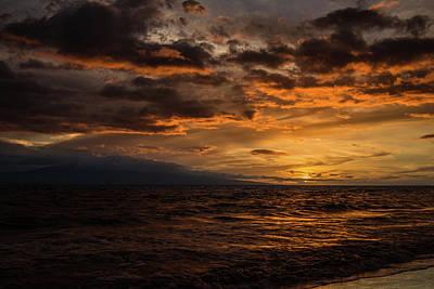 Photograph - Sunset Over Hawaii by Chris McKenna