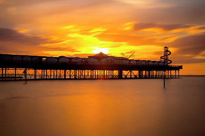 Photograph - Sunset Over Herne Bay Pier by David Hare