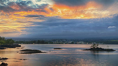 Photograph - Sunset Over Hilo by Susan Rissi Tregoning