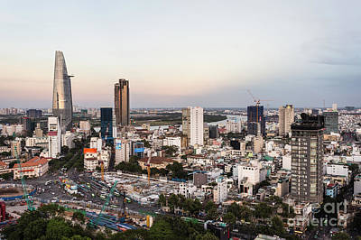 Photograph - Sunset Over Ho Chi Minh City by Didier Marti