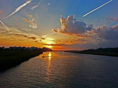 Gerald Monaco Photograph - Sunset Over Hog Inlet by Gerald Monaco