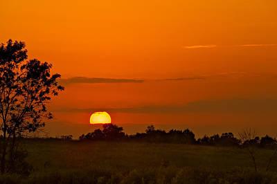 Sunset Over Horicon Marsh Original by Steve Gadomski