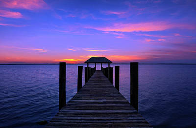Photograph - Sunset Over House Of Refuge Pier On Hutchinson Island Florida by Justin Kelefas