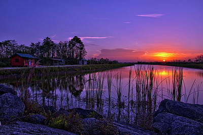 Photograph - Sunset Over Hungryland Wildlife Management Area by Justin Kelefas