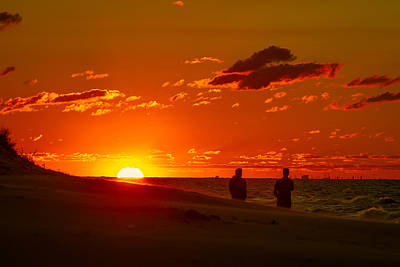 Photograph - Sunset Over Indiana Dunes by Ron Pate