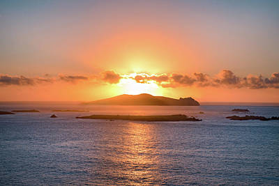James Brown Photograph - Sunset Over Inis Tuaisceart by James Brown