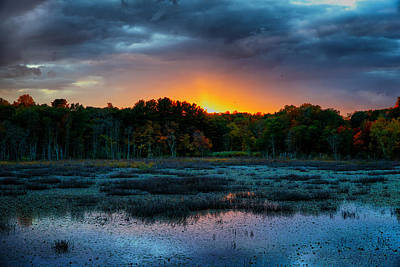 Photograph - Sunset Over Ipswich River by Lilia D