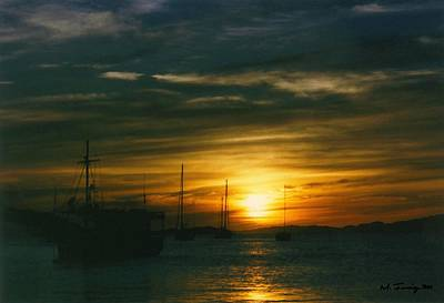 Art Print featuring the photograph Sunset Over Isla Margarita by Maciek Froncisz
