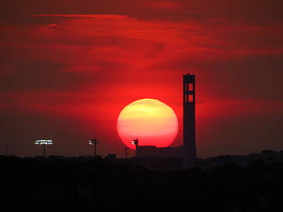 Sunset Over Jackie Robinson Ballpark #2 Art Print by Duff DeVaul